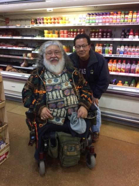 Tosh w/ Jesus Quintana USMC Veteran Vietnam